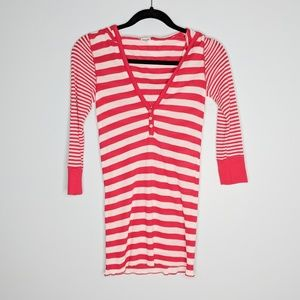 Splendid Striped Hoodie Shirt
